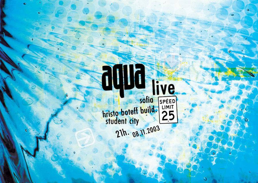 Aqua, concert poster
