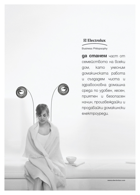 Electrolux business philosophy in-house poster